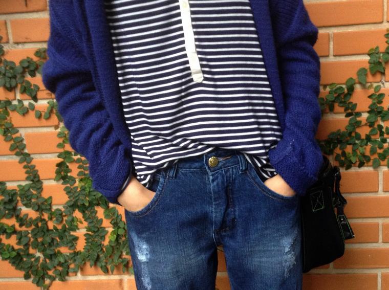 Blusa e jeans boyfriend