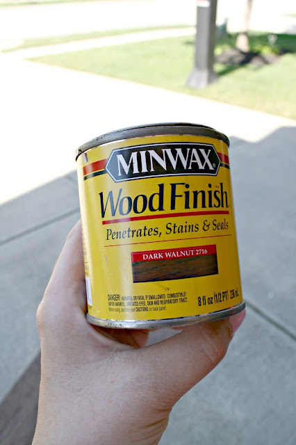 Minwax dark walnut stain