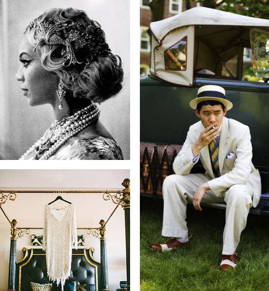 Great Gatsby Themed Wedding Inspiration