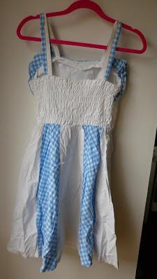 mesfringues vintage elbise mavi potikareli firfirli