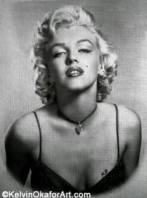 12-Marilyn-Monroe-Kelvin-Okafor-Celebrity-Portrait-Drawings-Full-of-Emotions-www-designstack-co