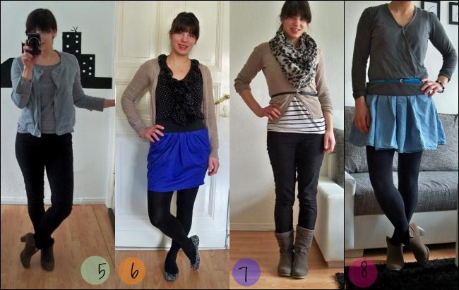 Fashion Challenge Outfit 5, 6, 7 und 8