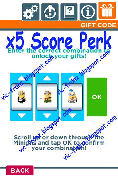 Despicable Me Minion Rush Gift Codes