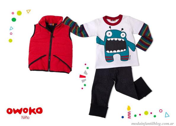 owoko indumentaria infantil invierno 2013