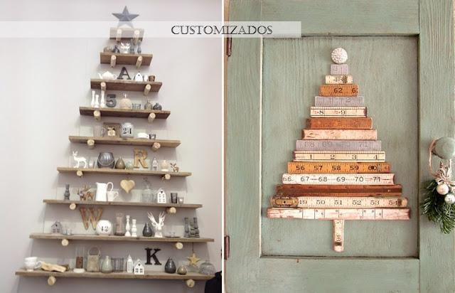 tambin podemos crear el rbol reutilizando elementos de madera que tengamos por casa es una idea muy original que adems si se hace con nios ayuda - Arbol De Navidad De Madera