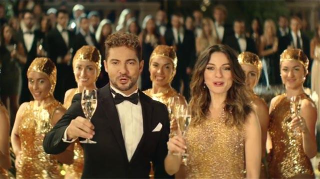 David Bisbal y María Valverde en el anuncio de Freixenet