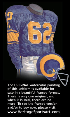 Los Angeles Rams 1957 uniform - St. Louis Rams 1957 uniform