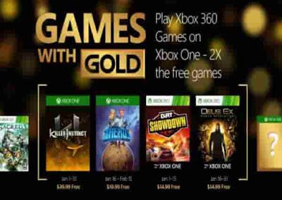 يقدم Microsoft لمشتركي Xbox Live gold في عشية عيد الميلاد هدية رائعة. والواقع أن شركة ريدموند تخطط لتقديم 4 ألعاب (اثنان لأجهزة إكس بوكس وان، واثنان لمستخدمي أجهزة Xbox 360) ذوي العضوية الذهبية بغية بدء السنة بطريقة جيدة.