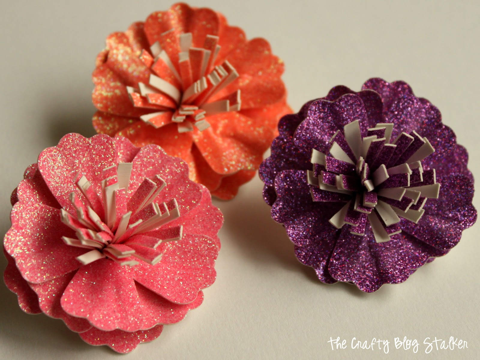 glitter paper flower frame with american crafts