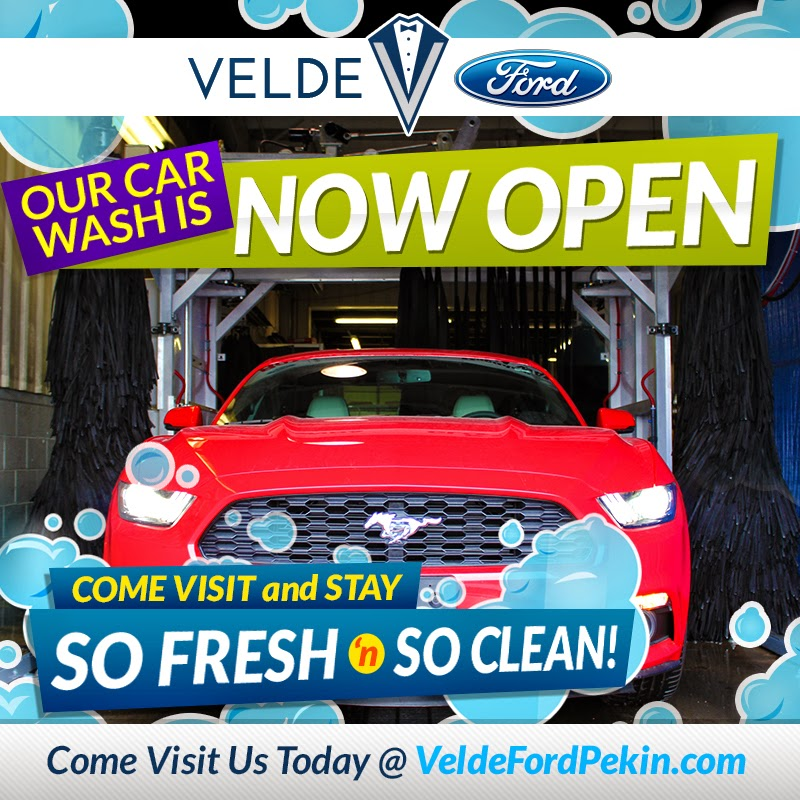 Velde Ford Car Wash is NOW OPEN!