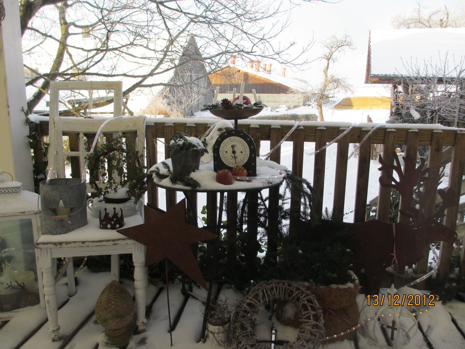 Weihnachtsdeko f r balkon my blog - Weihnachtsdeko wohnung ...