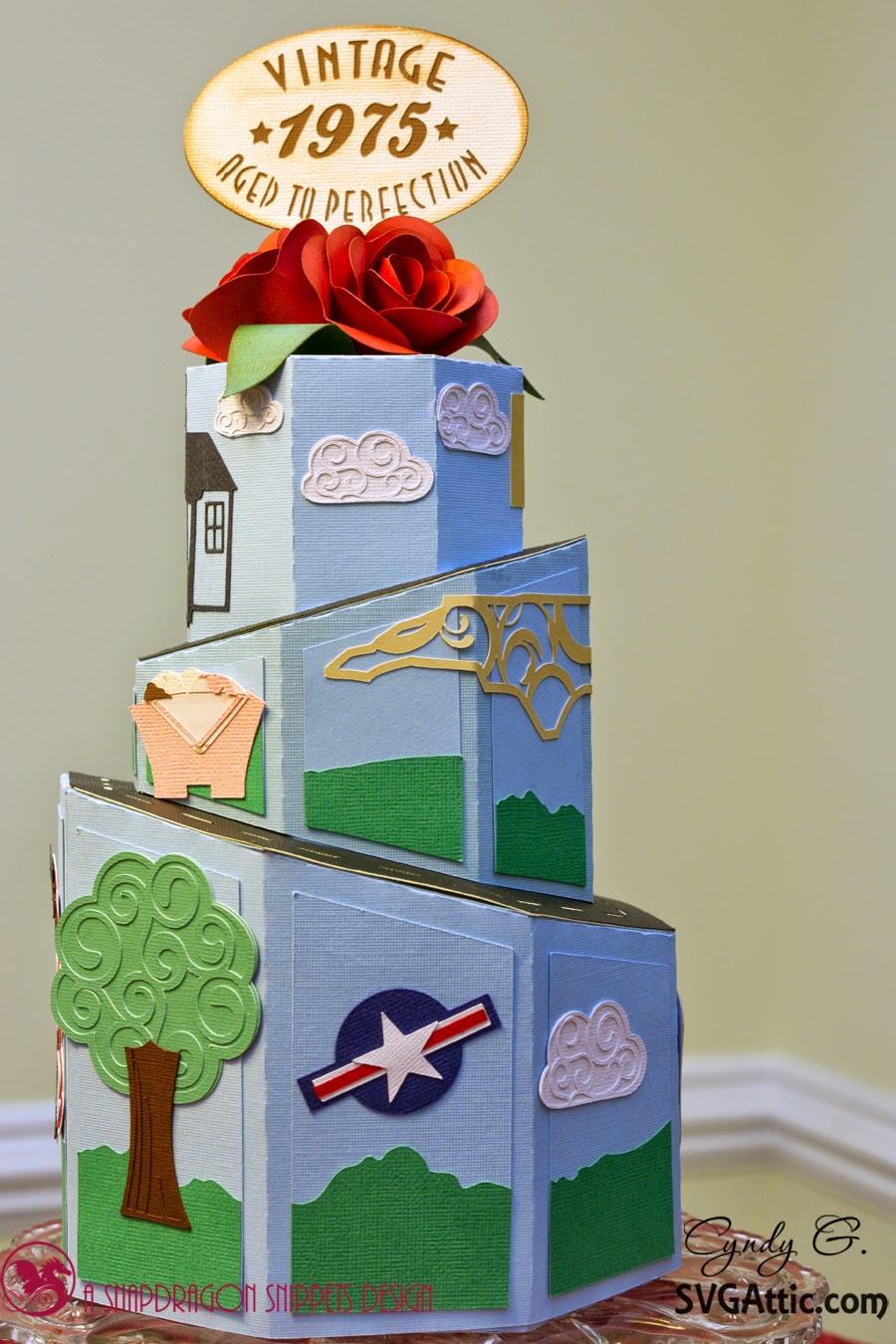 3d paper milestone cake