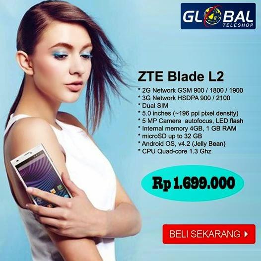 Harga ZTE Blade L2 Android Quad Core Murah