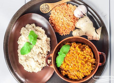Dhal z soczewicy z maślanym ryżem