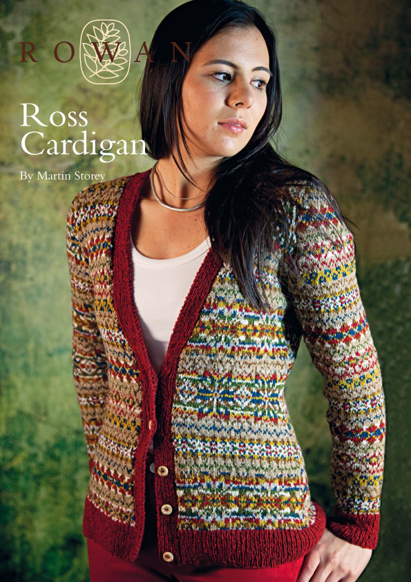The Vintage Pattern Files 1940s Knitting Fair Isle Ross Cardigan