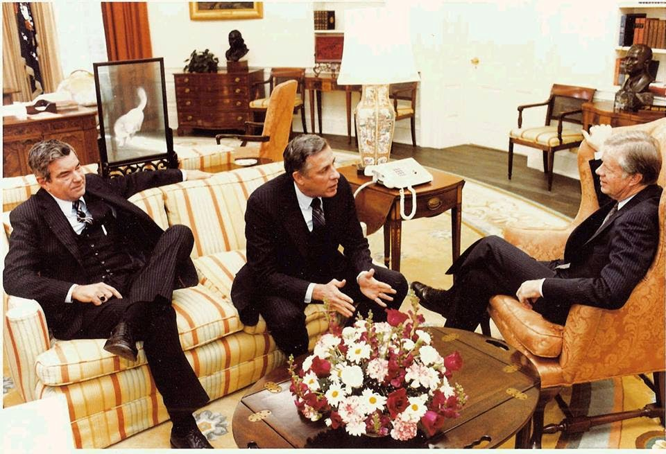 SAIC Jerry Parr and Director John Simpson with President Carter 1979