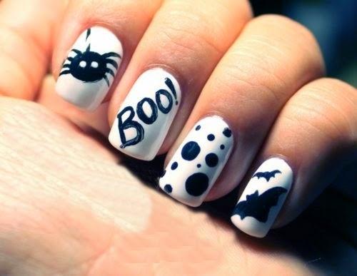 Uñas Pintadas para Halloween, Diseños Fantasma