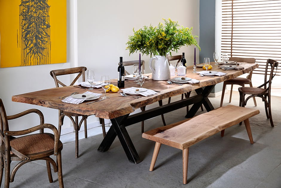 Slab Tables From Israel Rocking Chair And Mackay Cedar Bench