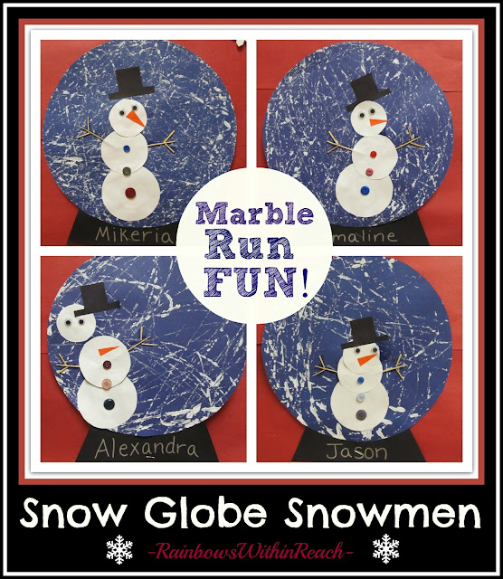 photo of: Snow Globe Snowmen Winter Art Project via RainbowsWithinReach
