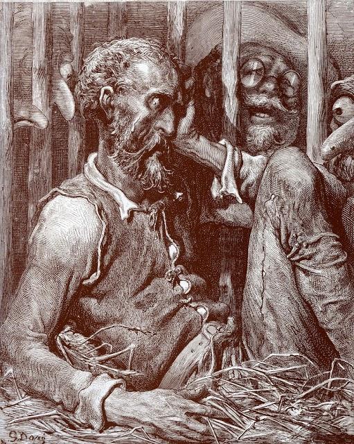 Don Quijote enjaulado - Gustave Doré