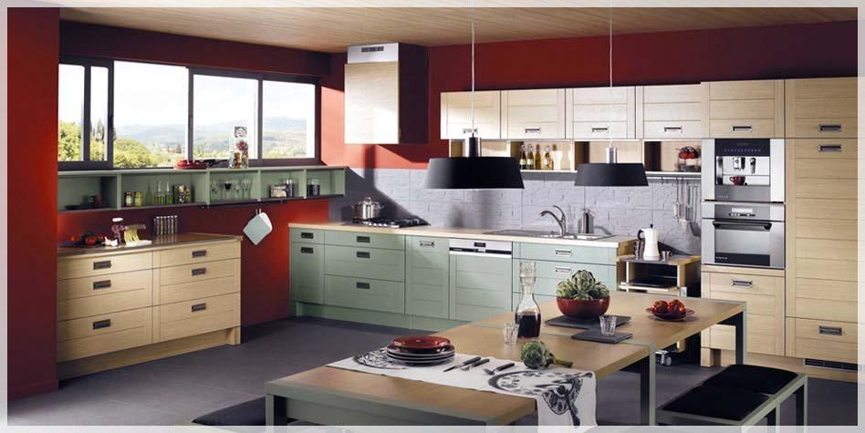 Røde kjøkken - interiør inspirasjon