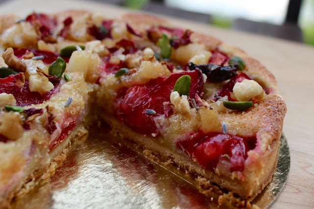 Red Plum Tart with Hazelnut Frangipane