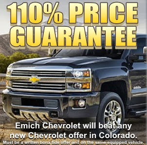 100% Price Guarantee at Emich Chevrolet