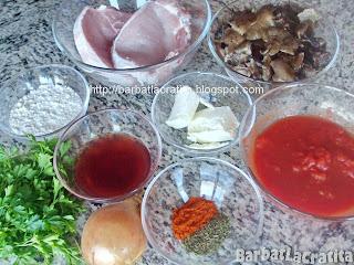 Escalop de porc cu ciuperci ingrediente reteta