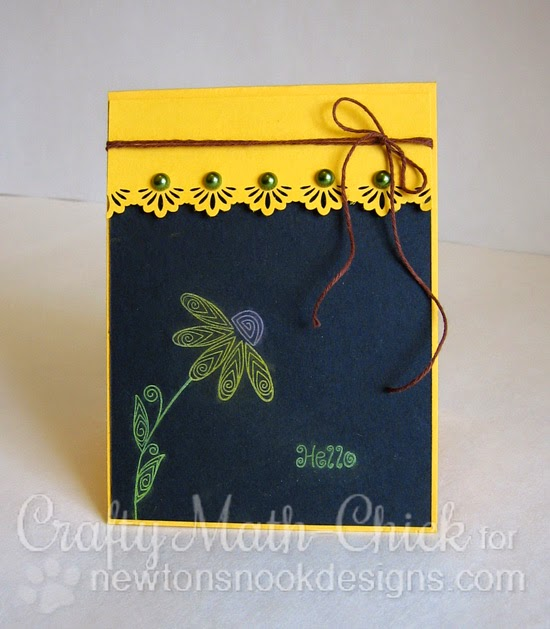 Chalkboard sunflower card by Crafty Math Chick | Beautiful Blossoms by Newton's Nook Designs