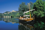 ballade en gabarre sur la Dordogne à Castelnaud