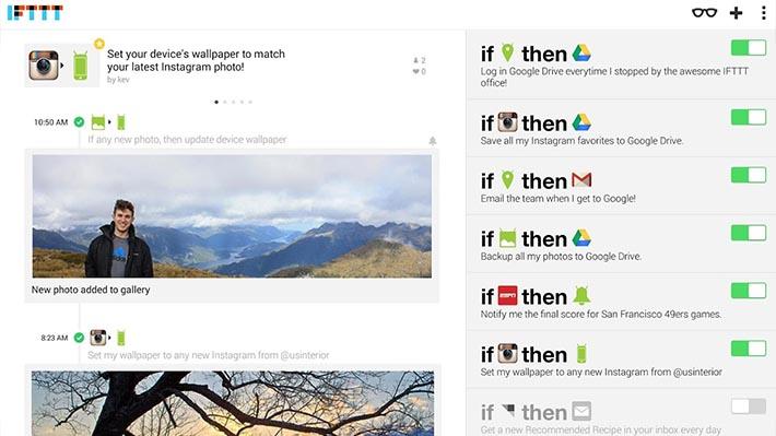 aplikasi Android IFTTT