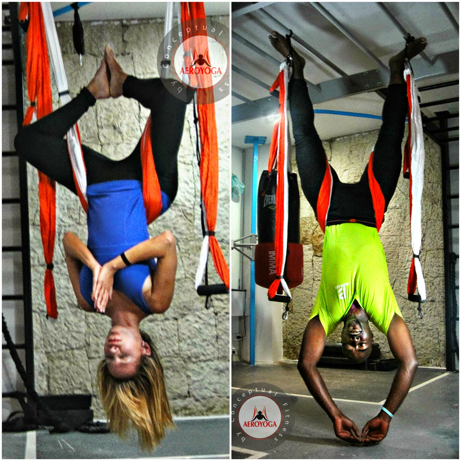 AERIAL PILATES FITNESS EXERCICE