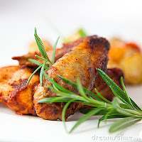 chicken wings photo with rosemary