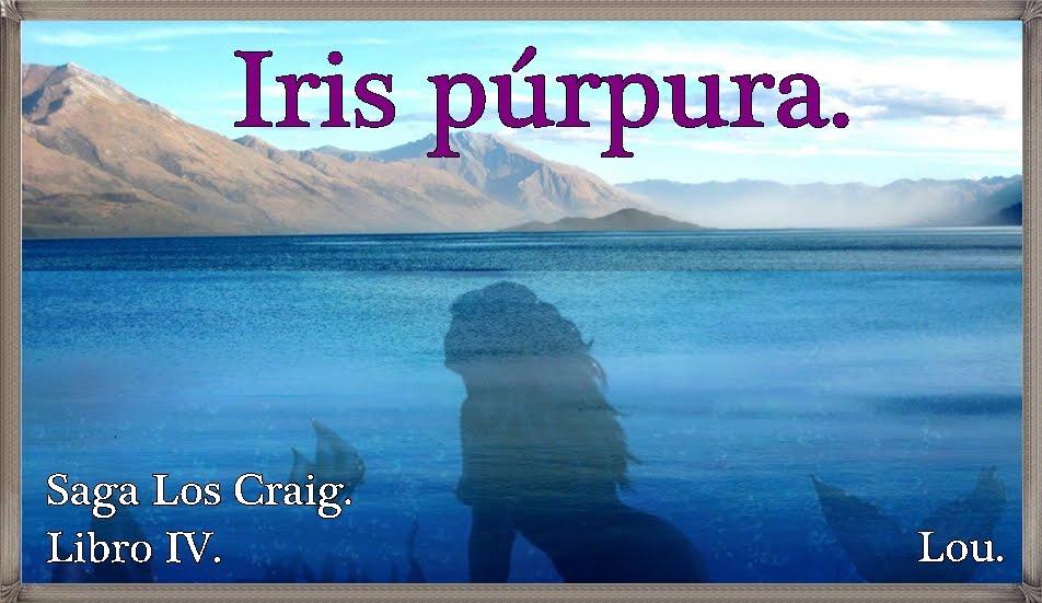 Iris púrpura.