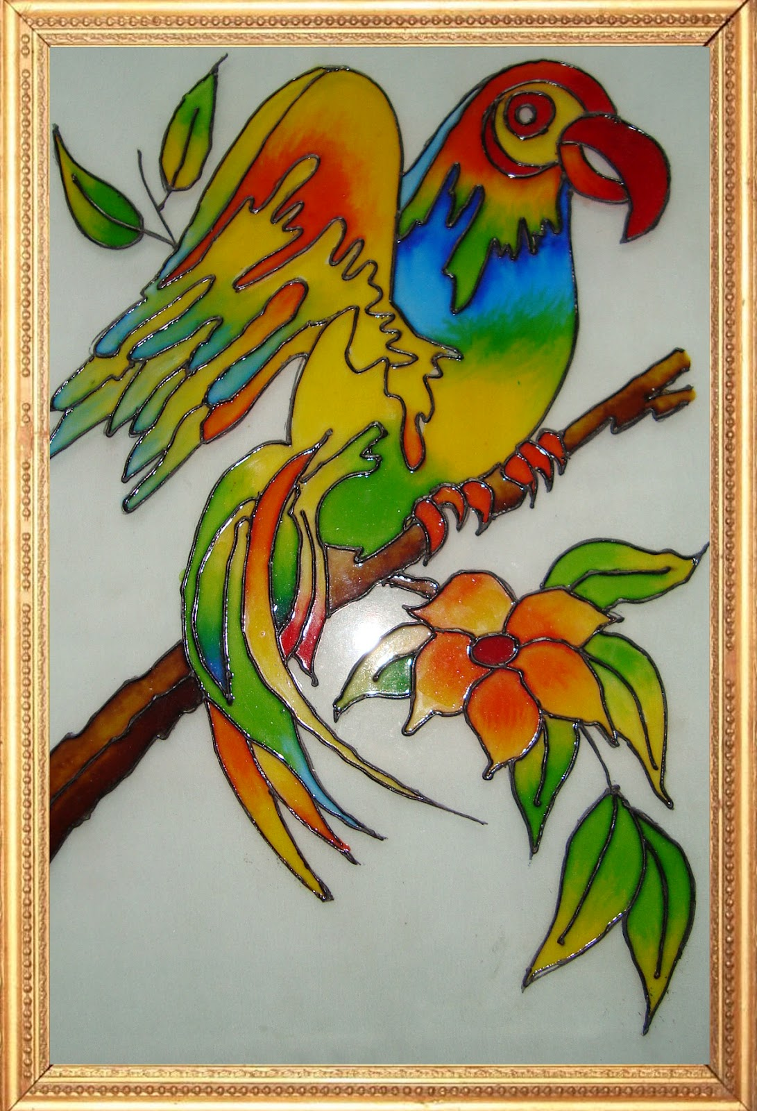Glass paintings pratibha art craft for Simple glass painting pictures