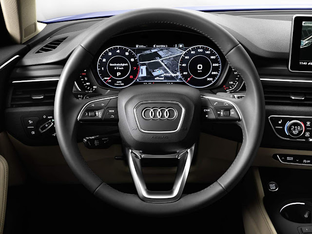 Novo Audi A4 2016 - virtual cockpit