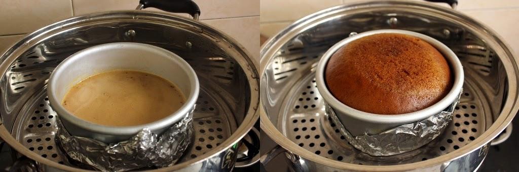 Steam Caramel Cake Step 5