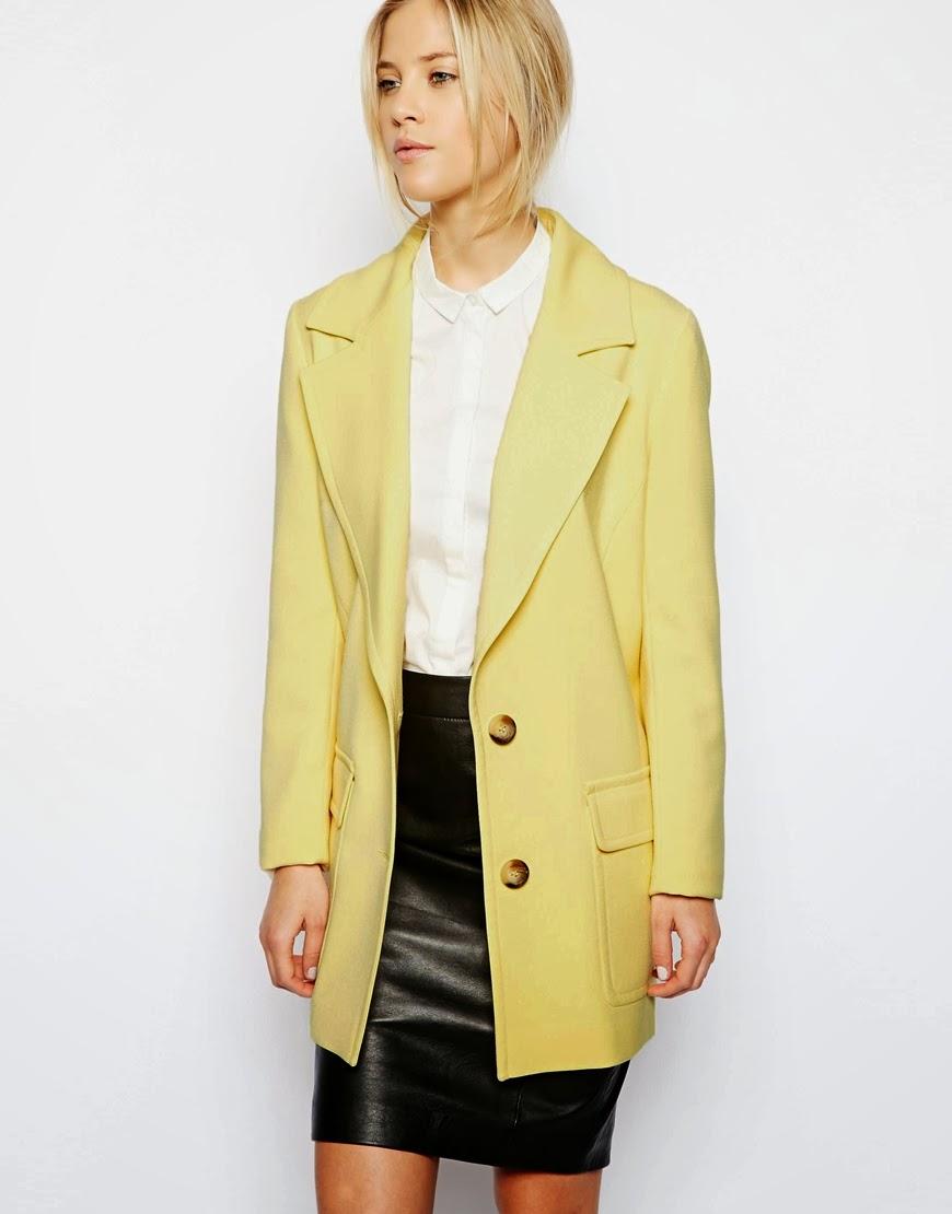 ladies yellow coat