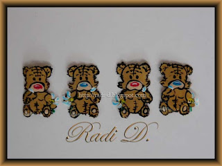 Transfer decorations of Teddy Bear