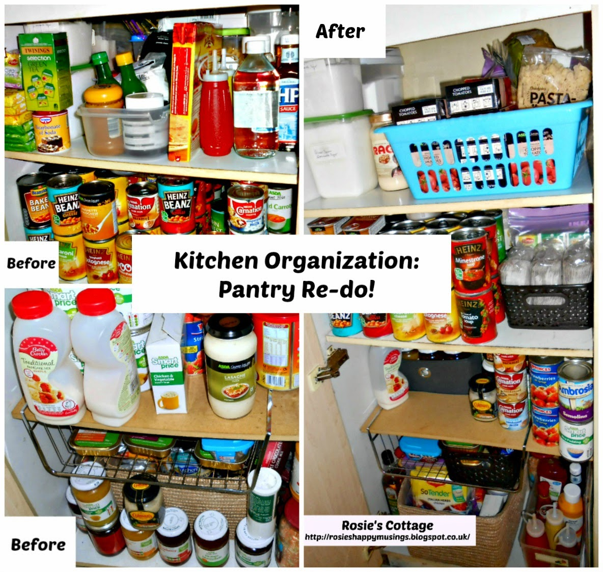 Organizing Kitchen Pantry Rosies Cottage Kitchen Organization Pantry Re Do