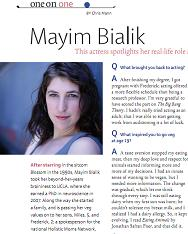 "Mayim Bialik ""Vegetarian Times"" interview by Chris Mann"