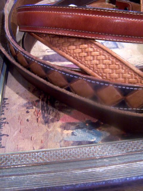 repurposed leather belt http://bec4-beyondthepicketfence.blogspot.com/2011/02/belted-inspiration.html