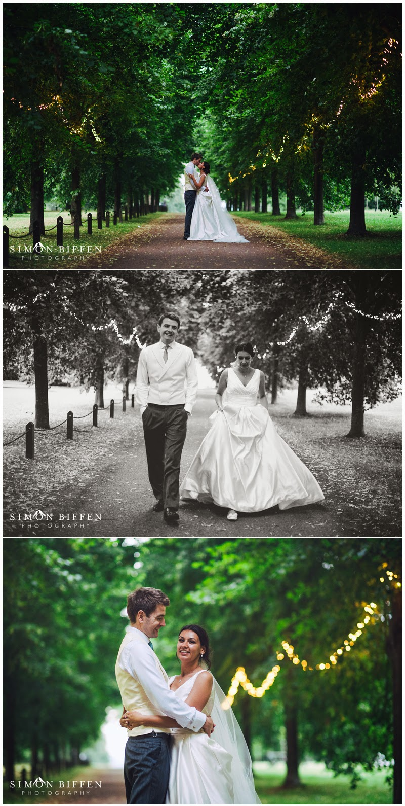 Dusk Bride and Groom photography at Polesdon Lacey wedding