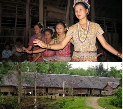 Rumah Betang Ensaid Panjang dan Gadis Ensaid Panjang