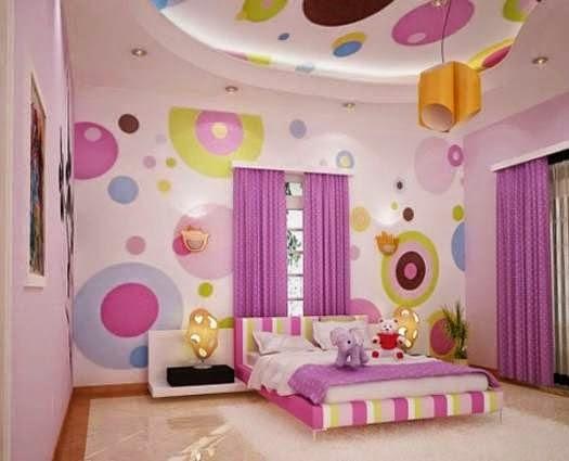 Kamar cantik untuk anak perempuan