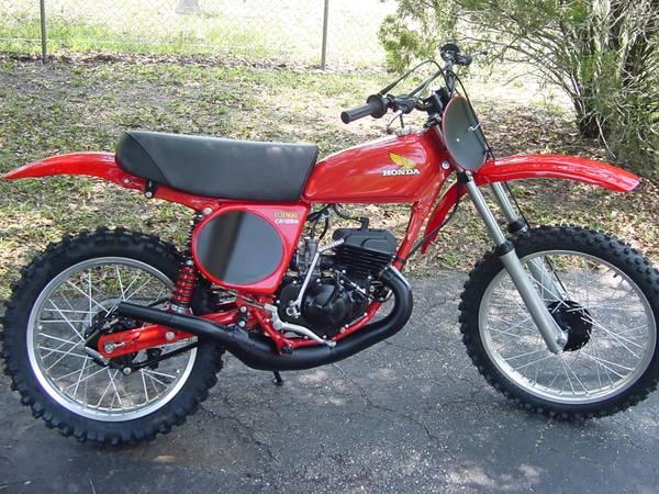 1976 honda cr125 elsinore motocross motorcycle for sale. Black Bedroom Furniture Sets. Home Design Ideas