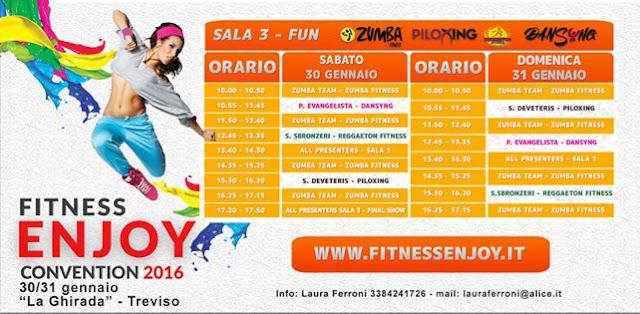 """Ritorna l'appuntamento con il grande fitness nazionale ed internazionale: Fitness Enjoy Convention 2016, 30-31 gennaio a Treviso presso il centro """"La Ghirada"""""""