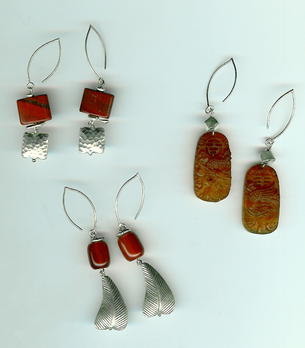 225. Semi-precious stones and Thai Sterling SIlver