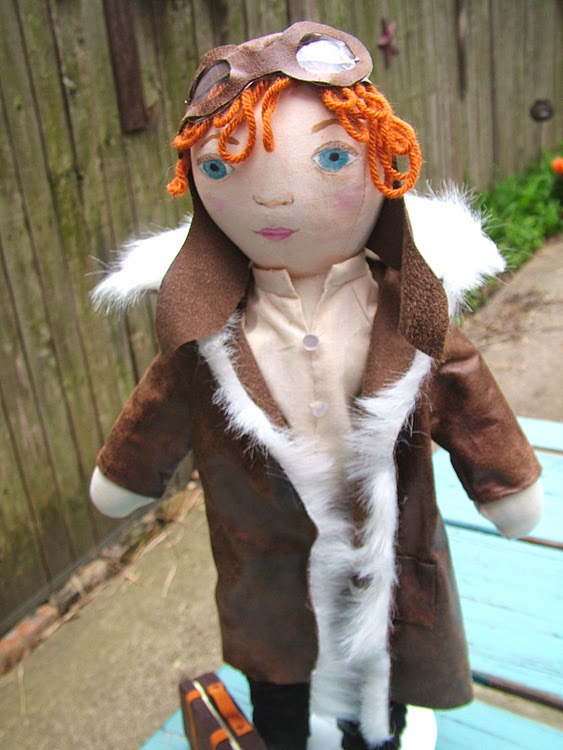 Small World Land Amelia Earhart Doll