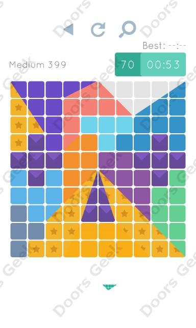 Cheats, Walkthrough for Blocks and Shapes Medium Level 399